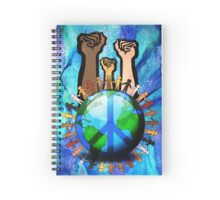 Unity And Peace - Raised Fists! Spiral Notebook