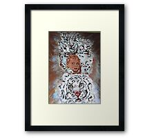 This is an Homage to Liberty & White Tigers Framed Print
