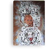 This is an Homage to Liberty & White Tigers Canvas Print