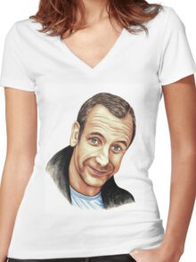 Robson Green Women's Fitted V-Neck T-Shirt