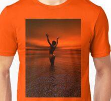 Erotic art hot sex Girl on the beach Unisex T-Shirt