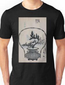 Yenshu ryu ikebana hiak bin no zu shiki konzatsu Flower arrangement in the Enshu style V1 1897 0037 Unisex T-Shirt