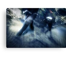 blue rush hour melodrama Canvas Print