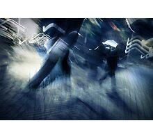 blue rush hour melodrama Photographic Print
