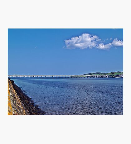A Distant Tay Bridge In Scotland. Photographic Print