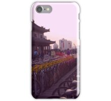 Bikes on the Wall, Sunset iPhone Case/Skin