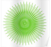 funky green star Poster