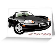 Mazda MX-5 Miata NB black Greeting Card