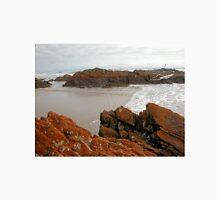 The lichen covered rocks at Arthur River, Tasmania, Australia. Unisex T-Shirt