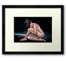 Erotic art hot sex girl  Framed Print
