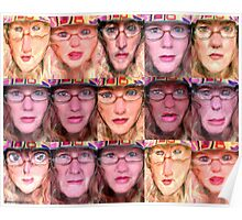 glassie hat collage Poster