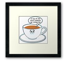 Restore my normality Framed Print