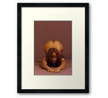 Erotic art hot sex hot red Framed Print