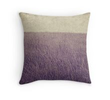 Purple field Throw Pillow