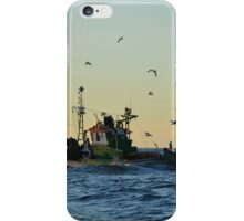 Fishing Boat Mobbed By Gulls iPhone Case/Skin