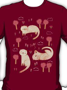 Orange Cat Pattern T-Shirt
