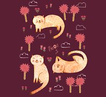 Orange Cat Pattern T-Shirt