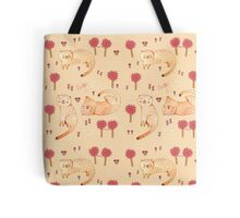 Orange Cat Pattern Tote Bag