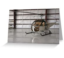 Bell 47 Helicopter Greeting Card