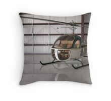 Bell 47 Helicopter Throw Pillow