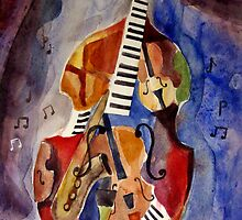 Artistic cocept of music (watercolor painting) by 7dotdesign