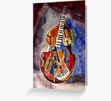 Artistic cocept of music (watercolor painting) Greeting Card