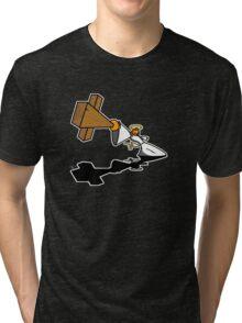 Love Thy Unconcious Enemy (no wording) Tri-blend T-Shirt