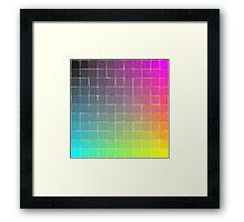 Rainbow squares Framed Print