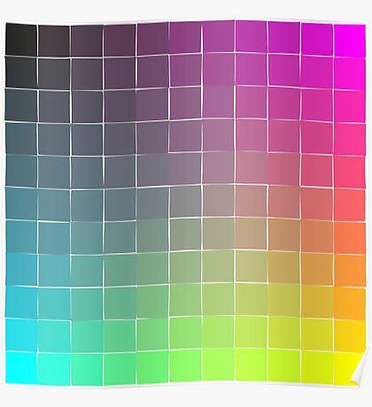 Rainbow squares Poster