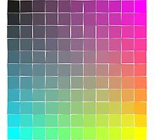 Rainbow squares Photographic Print