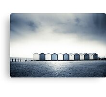 Charmouth Beach Huts Canvas Print