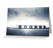 Charmouth Beach Huts Greeting Card