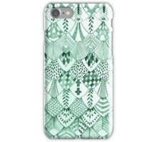 Owl Feathers in Mint iPhone Case/Skin