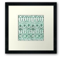 Owl Feathers in Mint Framed Print