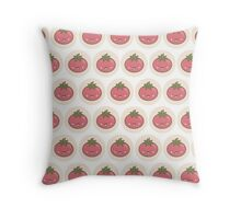 Happy Kawaii Tomato Throw Pillow