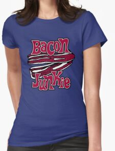 Bacon Junkie Womens Fitted T-Shirt