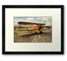 Bi-Plane in Yellow Framed Print