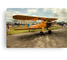 Bi-Plane in Yellow Canvas Print