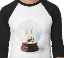 Snow Globe 3 Men's Baseball ¾ T-Shirt