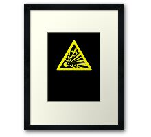 Indulgence explosion warning Framed Print