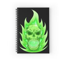 Soul Skull Green Spiral Notebook