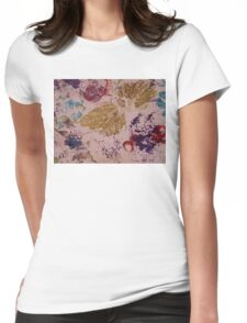 Autumn Leaves Hand Print Womens Fitted T-Shirt