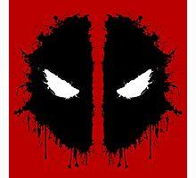 Deadpool Rorschach 2 Photographic Print