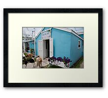Miss Emily's  Blue Bee Bar, Green Turtle Cay, Abaco Framed Print
