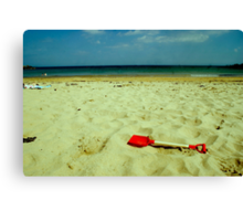 lonely red spade Canvas Print