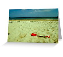 lonely red spade Greeting Card