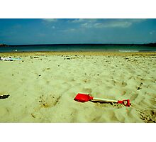 lonely red spade Photographic Print