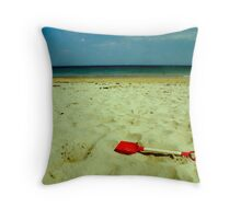 lonely red spade Throw Pillow