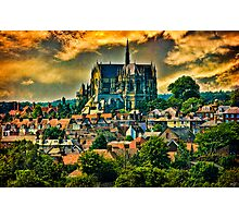 The Cathedral at Arundel with Surrounding Village Photographic Print