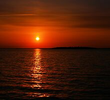 red sunset by Cheryl Dunning
